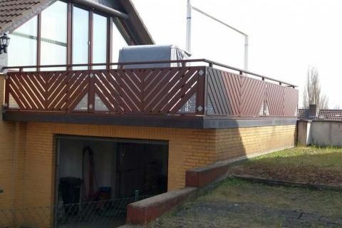 D113-Diagonal-Aluminium-Balkone-Balkongelaender-Rieb-Balkone-Wartungsfrei-Gelaender-Nie-mehr-Streichen