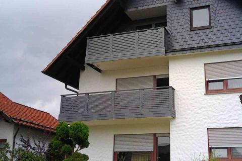 W193-Waagerecht-Aluminium-Balkone-Balkongelaender-Rieb-Balkone-Wartungsfrei-Gelaender-Nie-mehr-Streichen